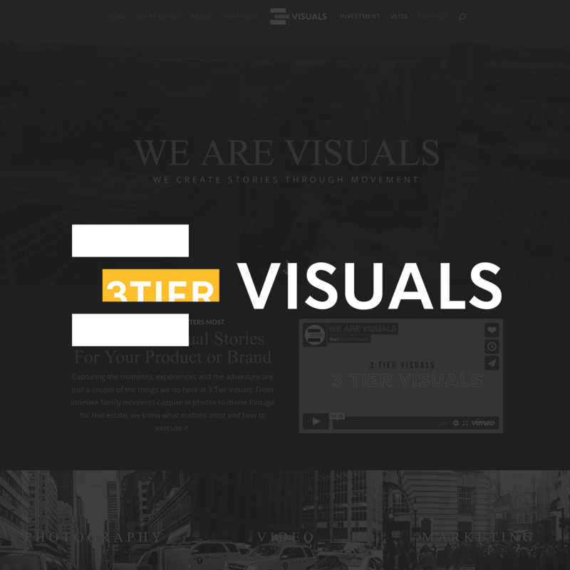 Web Design - 3 Tier Visuals